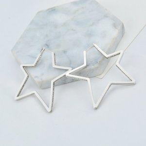 Henri Bendel Zircon Pentagram Earrings